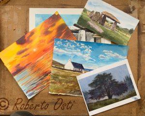 The joy of watercolor landscape @ Zoom Class