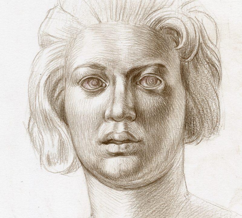 Copy of Bernini's Costanza Bonarelli's portrait
