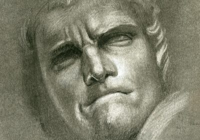 Copy of Bernini's David - Reduction technique in charcoal