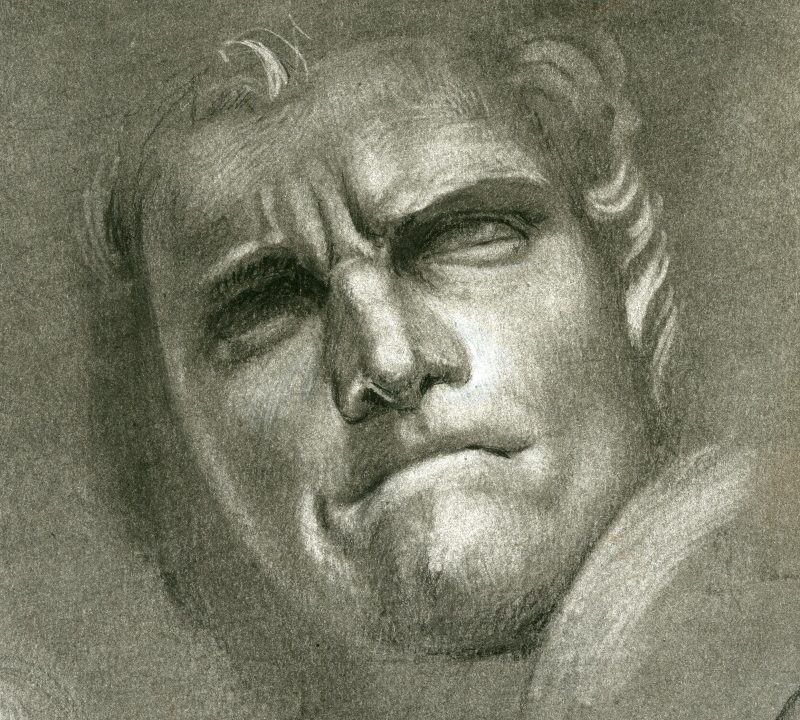 Copy of Bernini's David - Reduction technique in charcoal