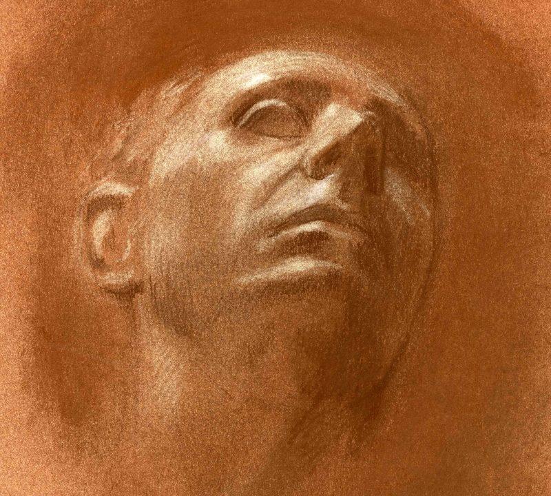 Cast Drawing in reduction technique - Cretacolor