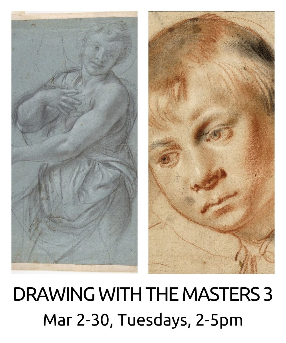 Drawing with the Masters III spring 2021 roberto osti new renaissance atelier march 2-30