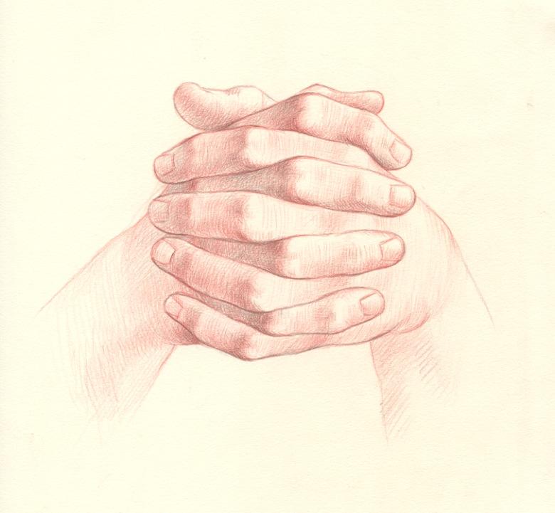 fingers interlocked