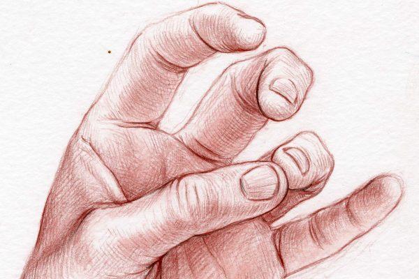 opposing thumb and ring finger