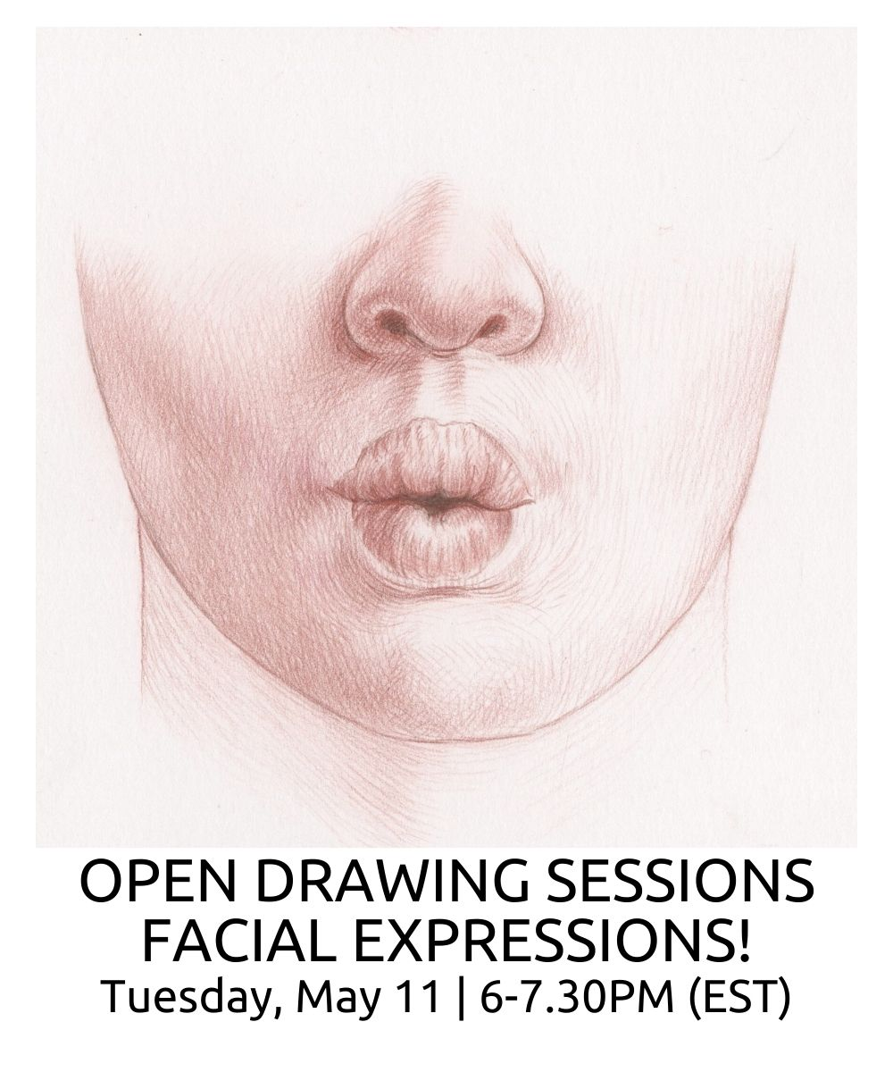 OPEN DRAWING SESSIONS DRAWING FACIAL EXPRESSIONS ROBERTO OSTI DRAWING NEW RENAISSANCE ATELIER