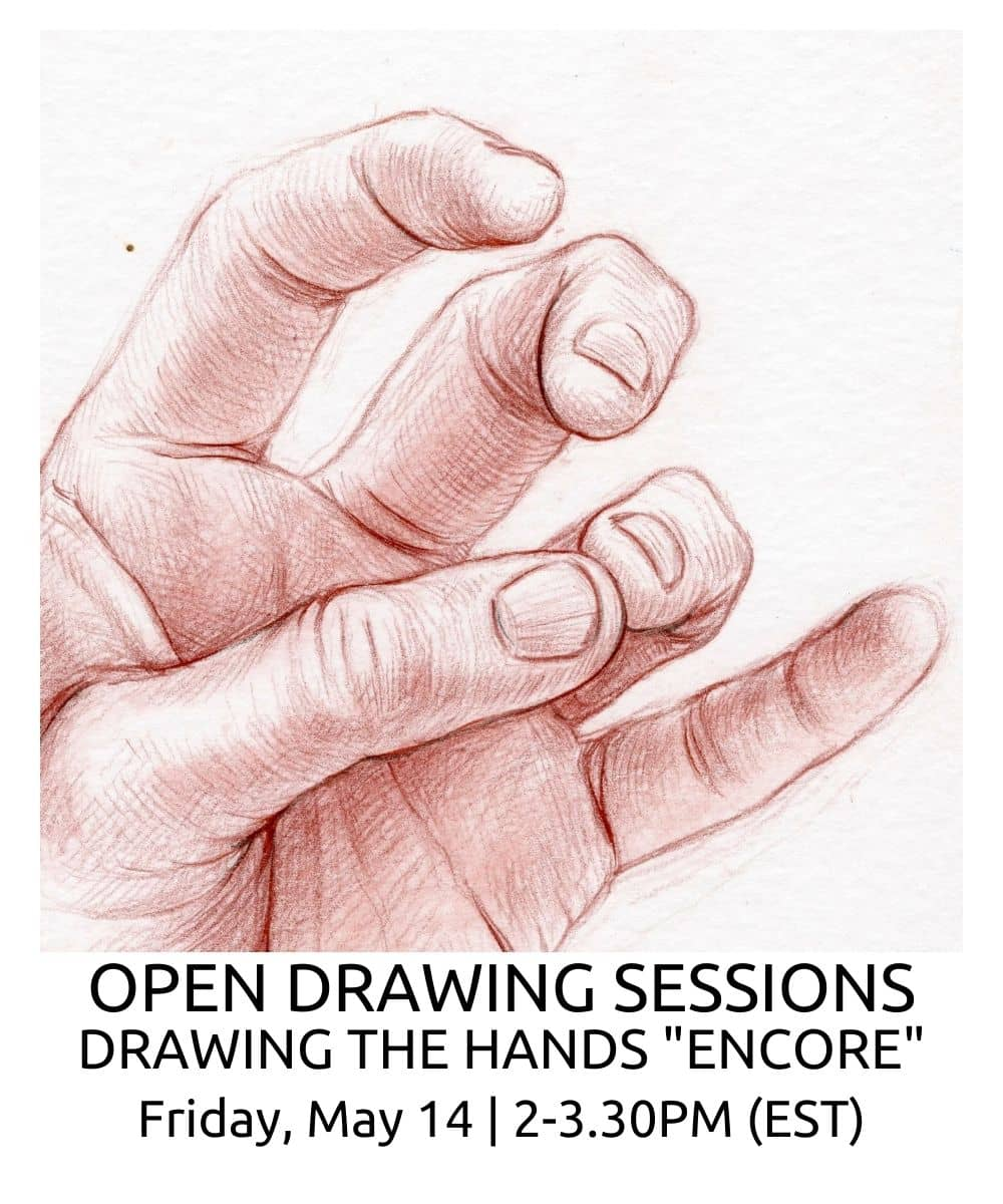 OPEN DRAWING SESSIONS DRAWING THE hands ENCORE ROBERTO OSTI DRAWING NEW RENAISSANCE ATELIER
