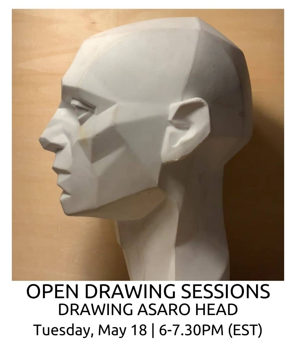 OPEN DRAWING SESSIONS DRAWING asaro head ROBERTO OSTI DRAWING NEW RENAISSANCE ATELIER (1) (1)