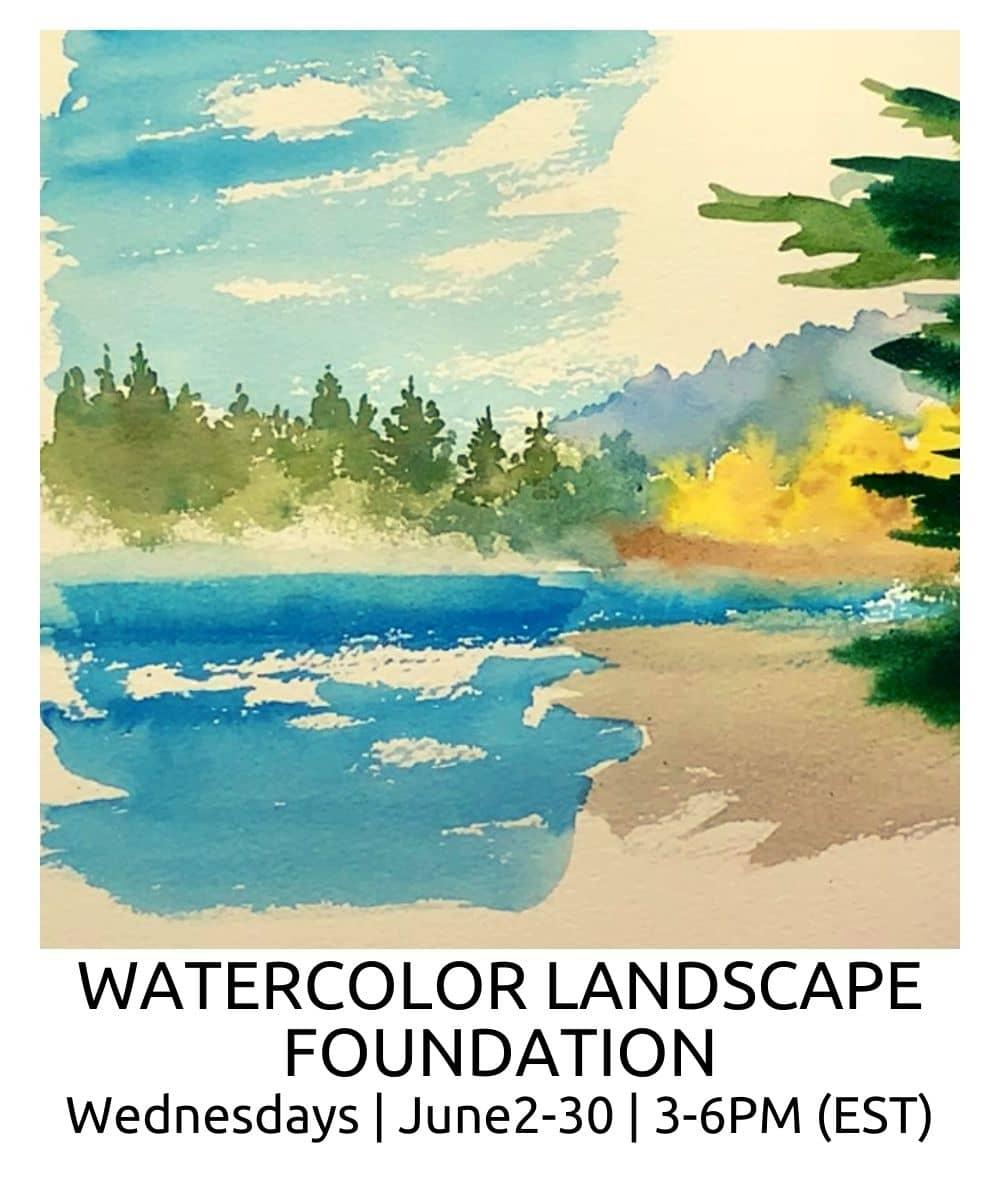 Watercolor Landscape Foundation ROBERTO OSTI DRAWING NEW RENAISSANCE ATELIER (2) (1)