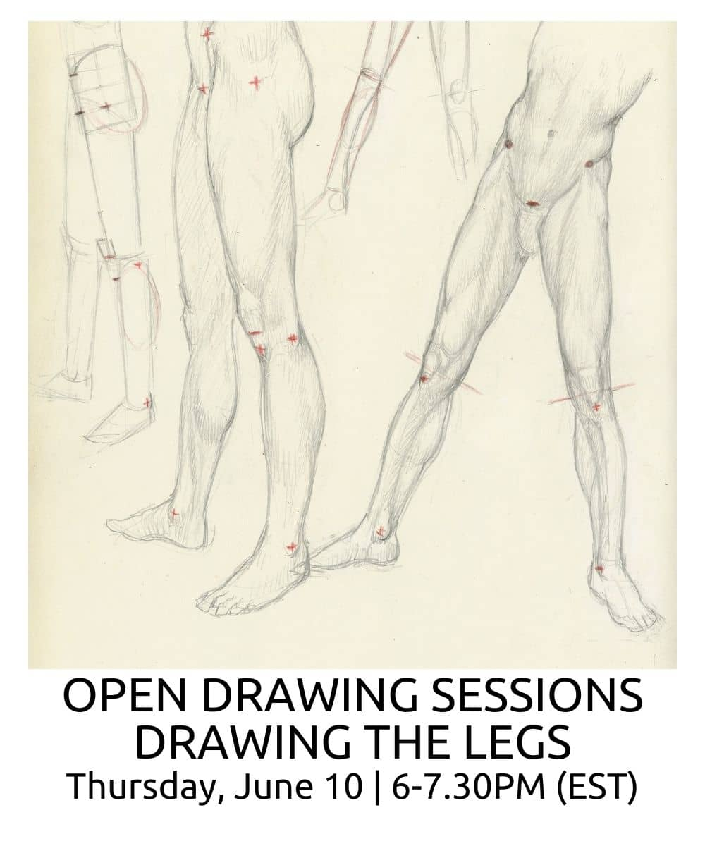 OPEN DRAWING SESSIONS DRAWING THE LEGS ROBERTO OSTI DRAWING NEW RENAISSANCE ATELIER (1)