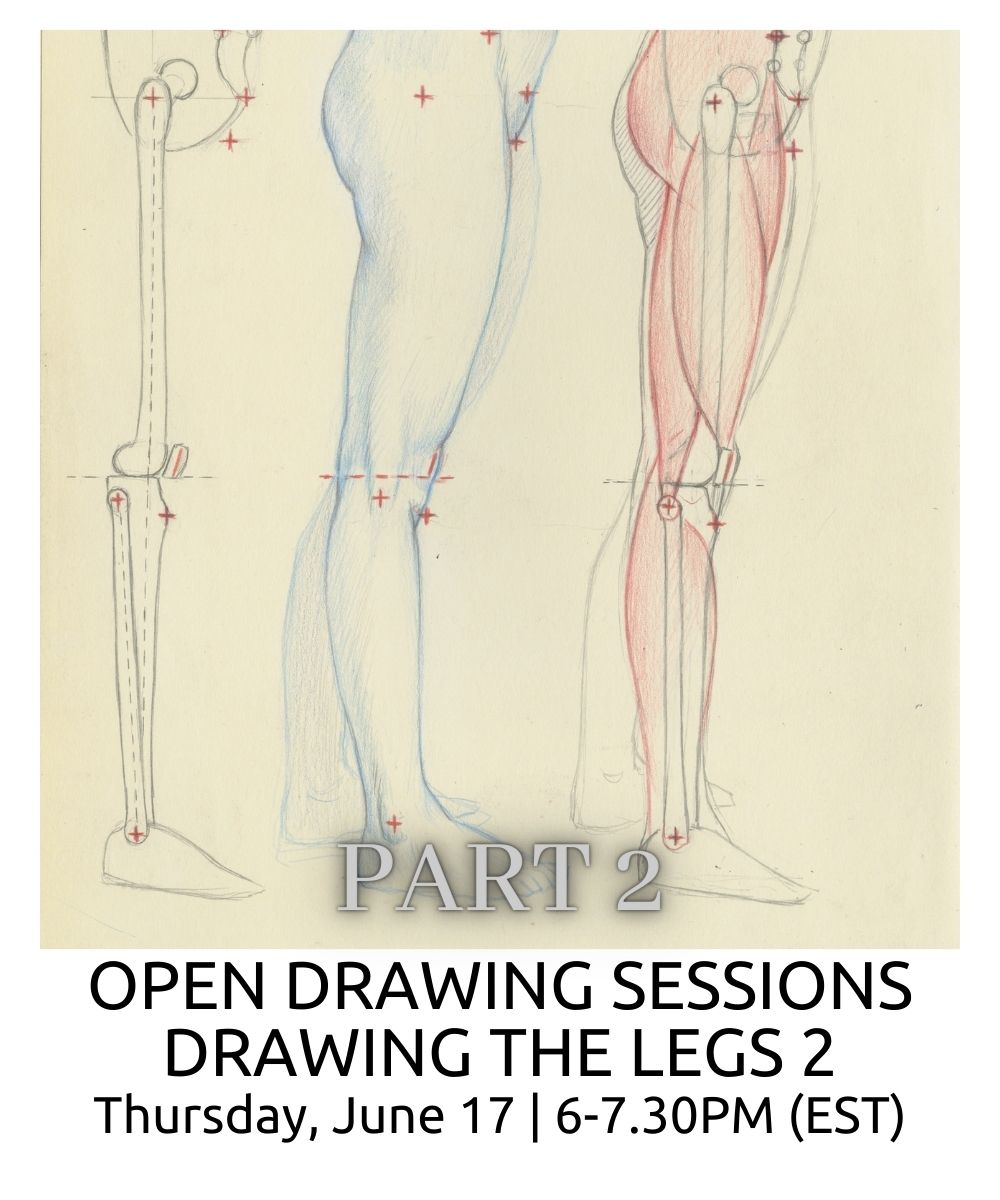 OPEN DRAWING SESSIONS DRAWING THE LEGS part 2 ROBERTO OSTI DRAWING NEW RENAISSANCE ATELIER-min