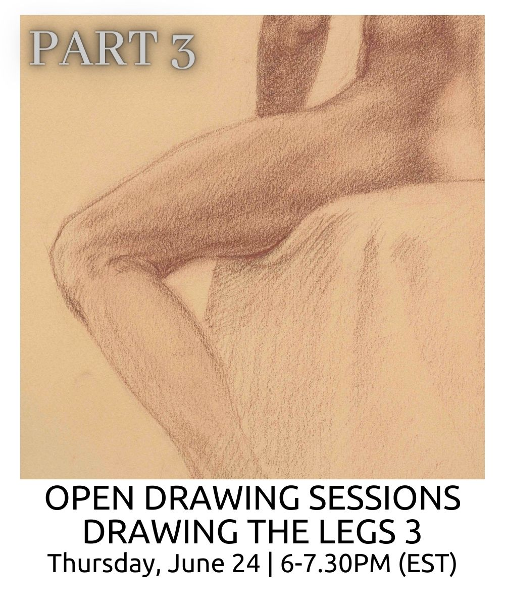 OPEN DRAWING SESSIONS DRAWING THE LEGS part 3 ROBERTO OSTI DRAWING NEW RENAISSANCE ATELIER (1)
