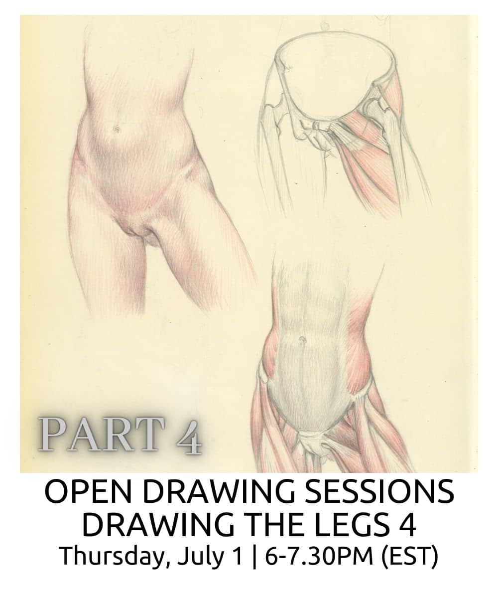 OPEN DRAWING SESSIONS DRAWING THE LEGS part 4 ROBERTO OSTI DRAWING NEW RENAISSANCE ATELIER (1)