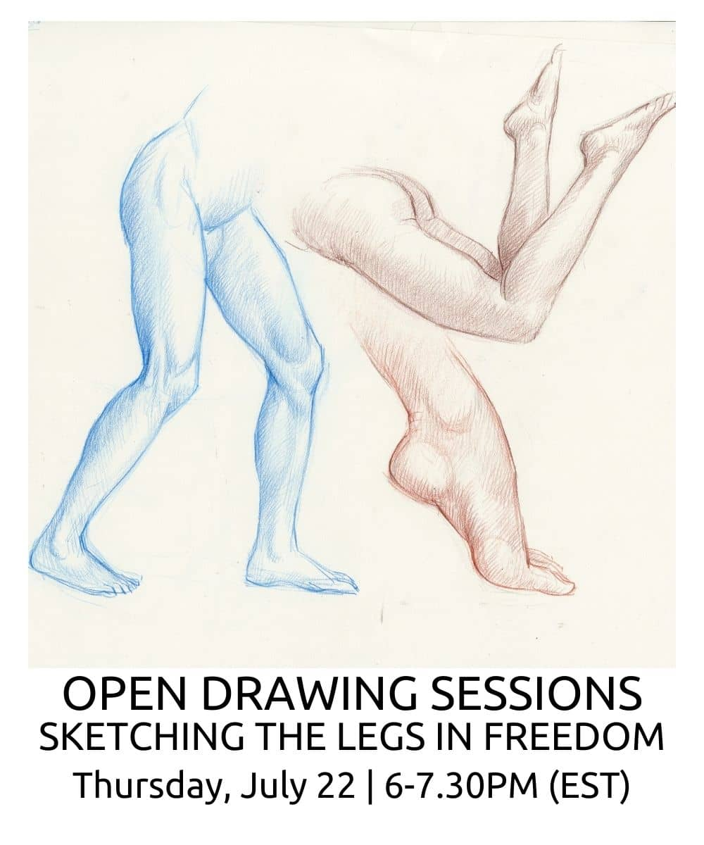 OPEN DRAWING SESSIONS 12 Sketching the legs in freedom ROBERTO OSTI DRAWING NEW RENAISSANCE ATELIER (2) (1)