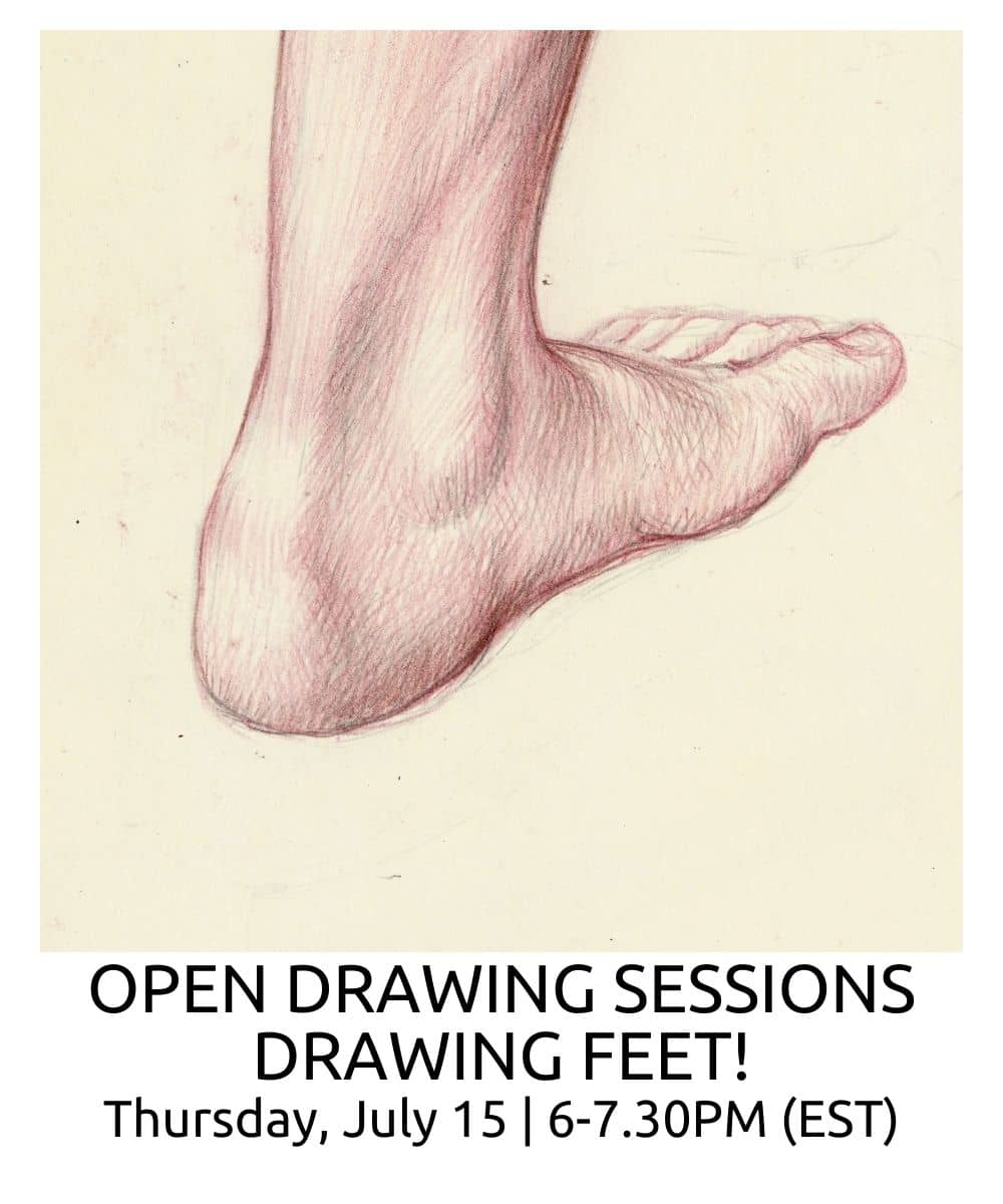 OPEN DRAWING SESSIONS DRAWING FEET ROBERTO OSTI DRAWING NEW RENAISSANCE ATELIER (1)