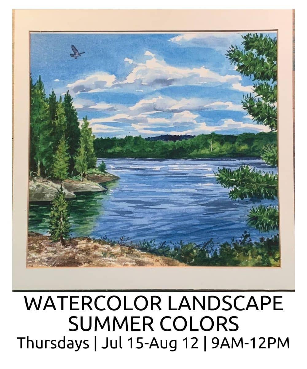Watercolor LANDSCAPE SUMMER COLORS ROBERTO OSTI DRAWING NEW RENAISSANCE ATELIER (1)