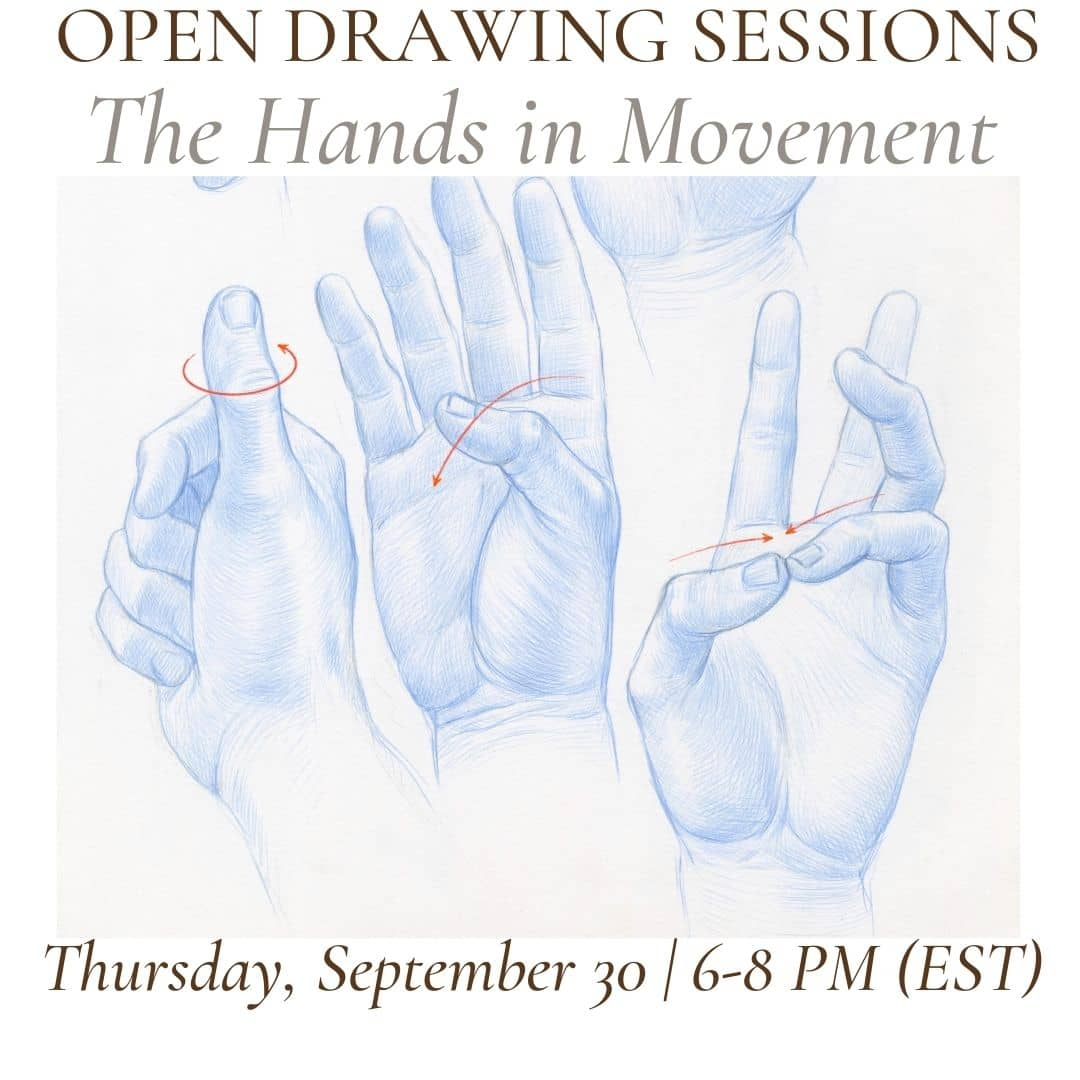 Open Drawing Session #21 the hands in movement (1)