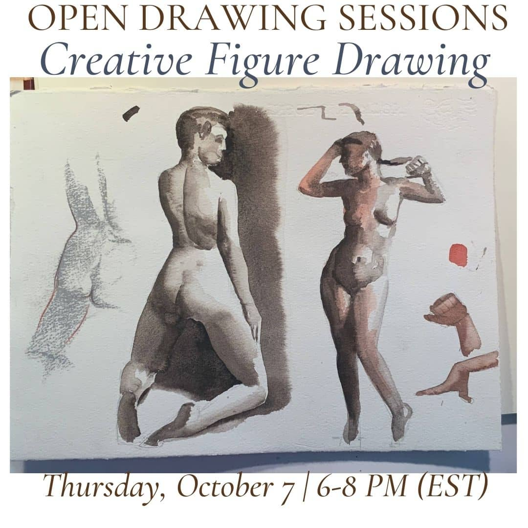 Open Drawing Session #22 creative figure drawing (1)