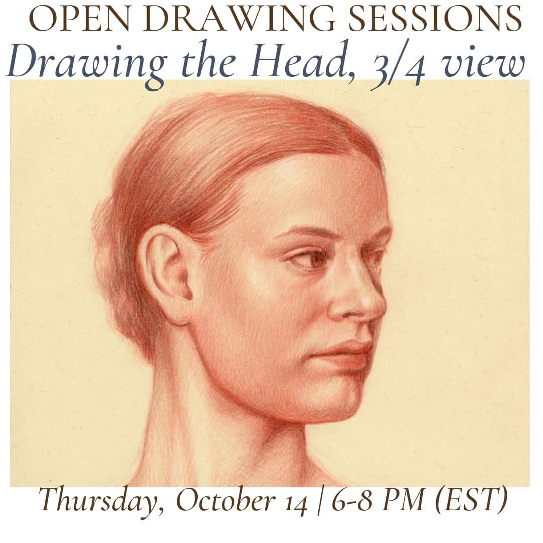 Open Drawing Session #23 Drawing the Head, 34 view (1)