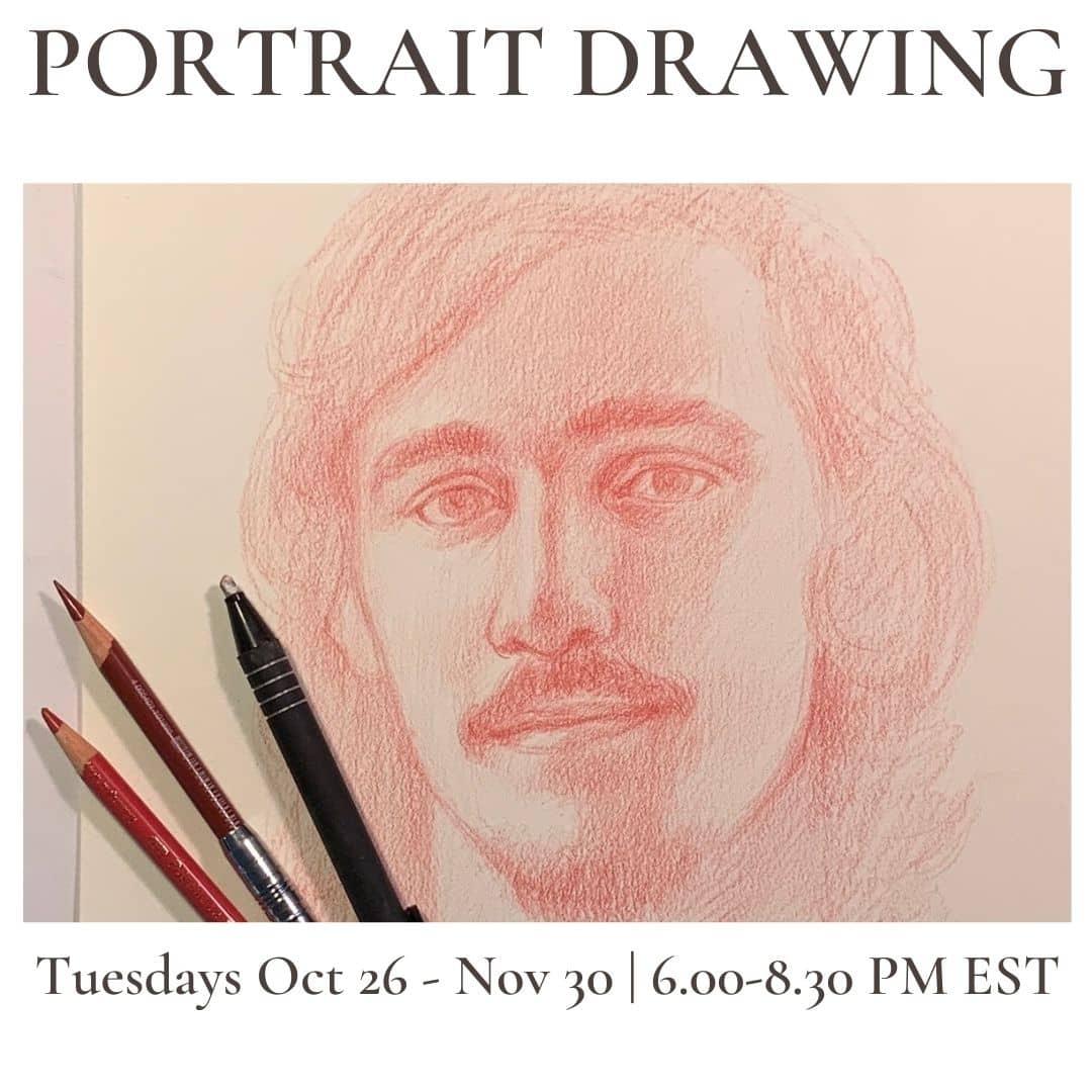 PORTRAIT DRAWING roberto osti drawing 6-8.30 pm est