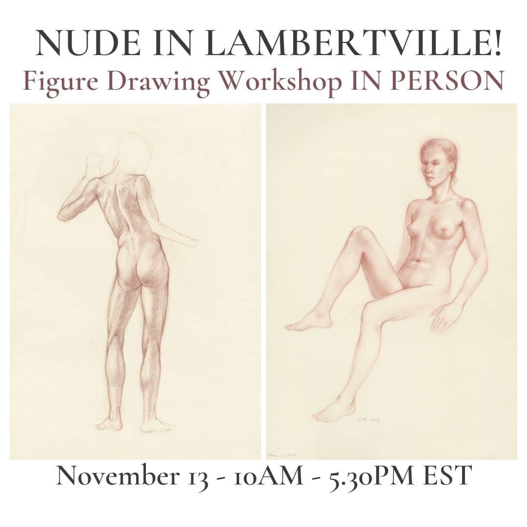 roberto-osti-drawing-nude in lambertville! figure drawing workshop in person